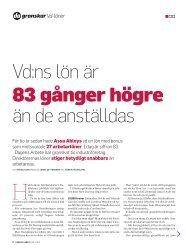 Vd:ns lön är än de anställdas - Dagens Arbete