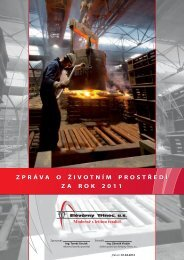 Zpráva o ŽP za rok 2011 - Slévárny Třinec as - Třinecké železárny