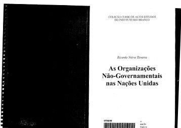 Organizações Não Governamentais nas Nações Unidas, As - Funag