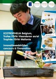 ECOTROPHELIA Belgium, Trofee FEVIA ... - Ecotrophelia.eu