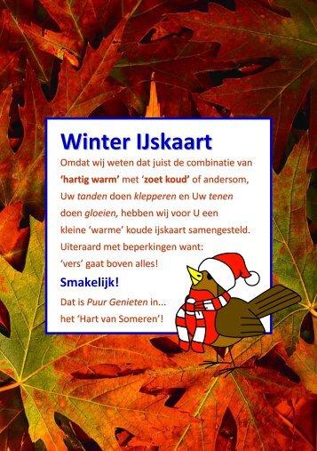 Alvast een blik in de nieuwe Winter IJskaart... - Hartentroef