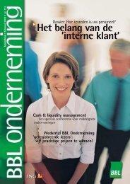 Het belang van de 'interne klant' - ING Onderneming