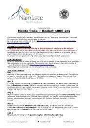 Monte Rosa – Boeket 4000-ers - Namaste Mountainguides
