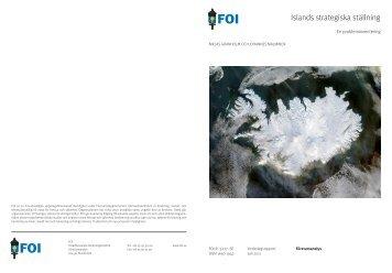 Islands strategiska ställning. En probleminventering, (Iceland's ... - FOI