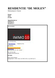"""RESIDENTIE """"DE MOLEN"""" - IMMO 10"""