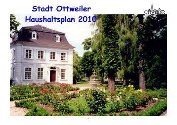Haushalt 2010 - Ottweiler