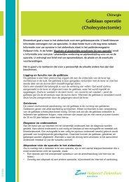 Galblaas operatie (Cholecystectomie)
