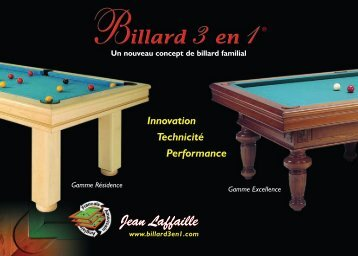 Catalogue - Billard 3 en 1