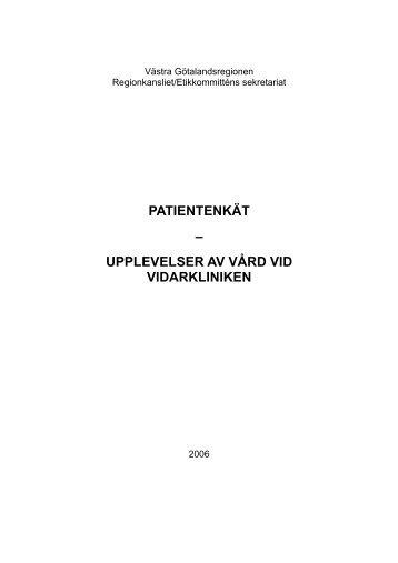 Västra Götalandsregionen - Vidarkliniken