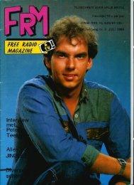 Free Radio Magazine juli 1986