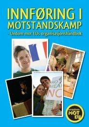 Organisasjonshåndbok - Ungdom mot EU