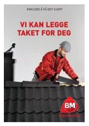 Vi kan legge taket for deg - Byggmakker