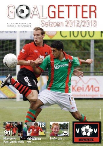Goalgetter september 2012 - Nieuwerkerk