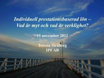 Presentation både seminariet och workshopen - Sveriges HR ...