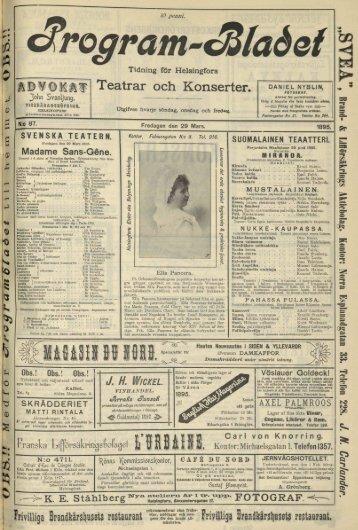 Teatrar och Konserter. - Doria