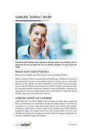 VoWLAN, Telefoni i WLAN - omWLAN.se