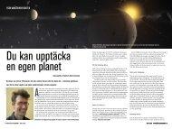 Du kan upptäcka en egen planet! - Populär Astronomi