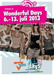 Flyer om festivalen - Wonderful Days 2013