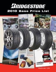 Bridgestone Tire Confidential Base Price List