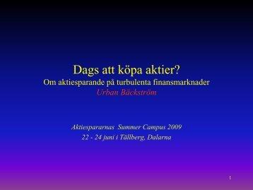 Urban Bäckström - Aktiespararna