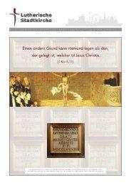 Zeitung der Lutherischen Stadtkirche Oktober-November 2011 Nr. 5 ...