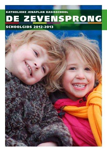 Schoolgids de Zevensprong 2012-2013