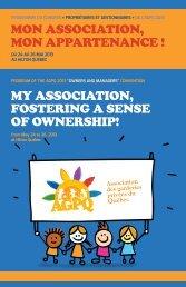 Congrès 2013 : programme officiel - Association des garderies ...
