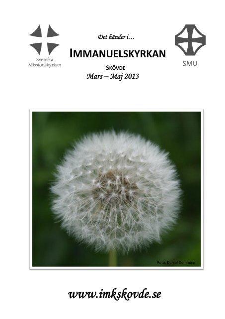 Programblad mars maj 2013 - Immanuelskyrkan