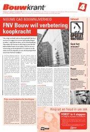 FNV Bouw wil verbetering koopkracht - Afdeling