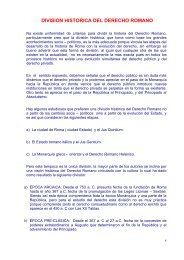 DIVISION HISTORICA DEL DERECHO ROMANO
