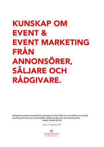 Handboken för event - Sveriges Annonsörer