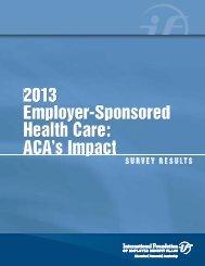 2013 ACA Impact Survey