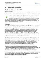 11 Netzwerke für Innovationen 11.4 Soziale ... - InnoSupport