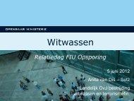 Ontwikkelingen witwasbestrijding - FIU-Nederland