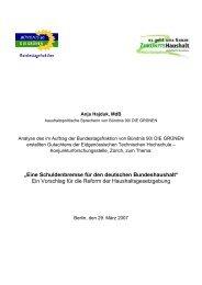 """""""Eine Schuldenbremse für den deutschen Bundeshaushalt"""" Ein ..."""