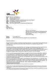 een brief aan staatssecretaris De Krom - IOT
