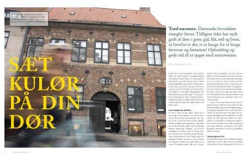 Træd nærmere. Danmarks hoveddøre mangler farver. Tidligere tider ...