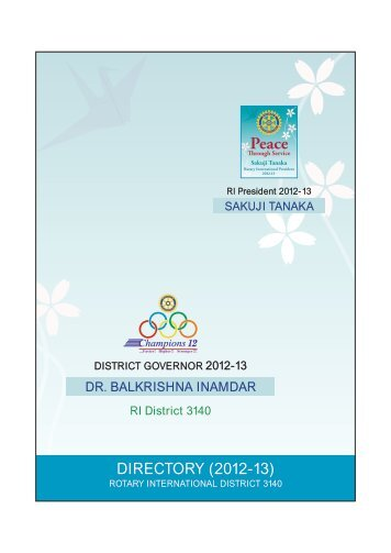DIRECTORY (2012-13) - District 3140