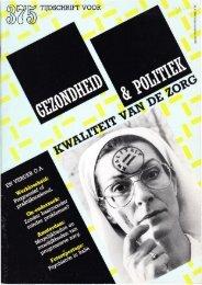 Tijdschrift Gezondheid en Politiek jaargang 1984 nr 4