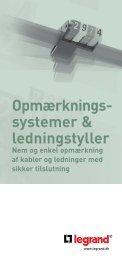 Opmærkningssystemer & ledningstyller - Vanpée & Westerberg