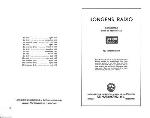 Download Het Boek Jongensradio 13e Druk Juni 1962 119 Paginas