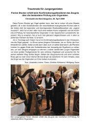 Traumnote für Jungorganisten - Evangelische Kirchengemeinde ...