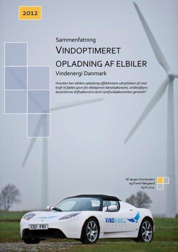 Vindoptimeret opladning af elbiler - Vindenergi Danmark amba