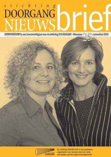 Nieuwsbrief 25 Stichting Doorgang - SPKS - Nfk