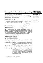 Transportstyrelsens föreskrifter om certifikat, flygskolor och ... - KSAK