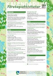Kalendarium våren 2013 - Härryda kommun