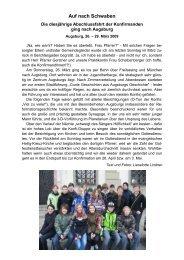 Auf nach Schwaben - Evangelische Kirchengemeinde Berchtesgaden