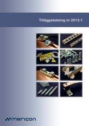 Tilläggskatalog 2013.1 - Mericon Sverige AB
