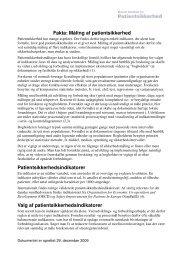 Fakta: Måling af patientsikkerhed Patientsikkerhedsindikatorer Valg ...