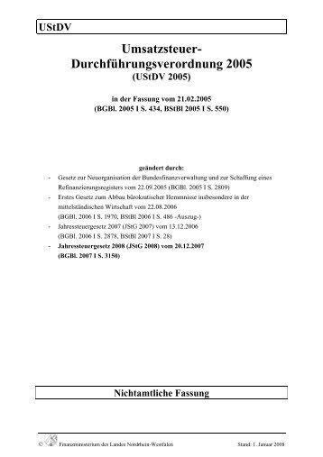 UStDV - Finanzministerium NRW